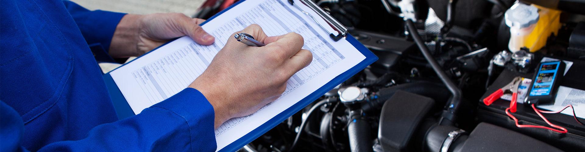 Engine service check list